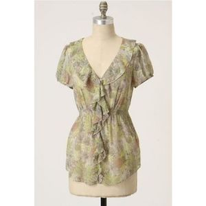Odille Anthro Wind Tossed Blooms Blouse